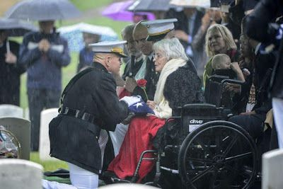 """The Commandant and Mrs. Annie Glenn - """"With The Thanks of A Grateful Nation"""" - Arlington National Cemetery Earlier Today"""