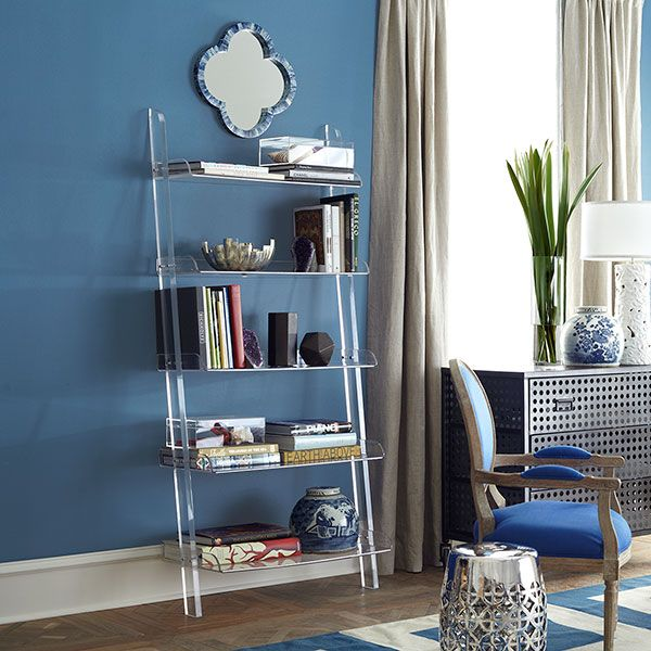 Wisteria+-+Furniture+-+Shop+by+Category+-+Cabinets+&+Bookcases+-++Acrylic+Leaning+Bookshelf+-+$1,399.00