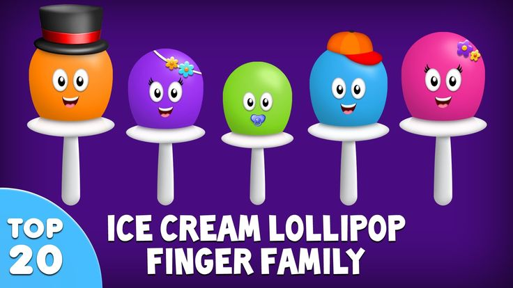 Ice Cream Lollipop Finger Family Song | Top 20 Finger Family Songs | Daddy Finger Rhyme