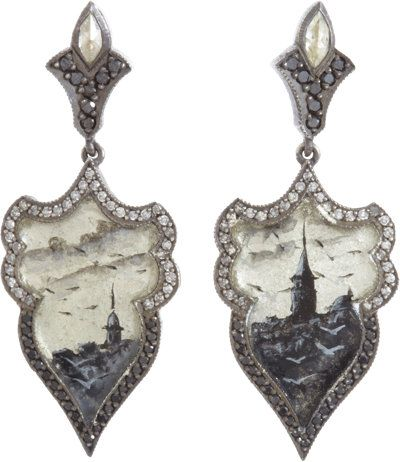 sevan bicakci, diamond istambul drop earrings