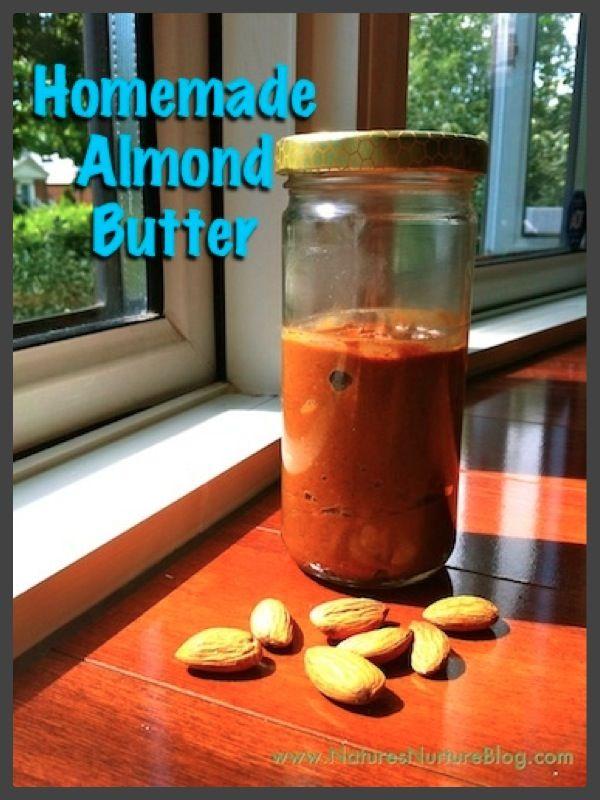 homemade almond butter: Almonds Butter, Butter Recipes, Almonds Recipes, Homemade Almonds, Easy Recipes, Healthy Recipes, Food Processor, Peanut Butter, Almonds Milk