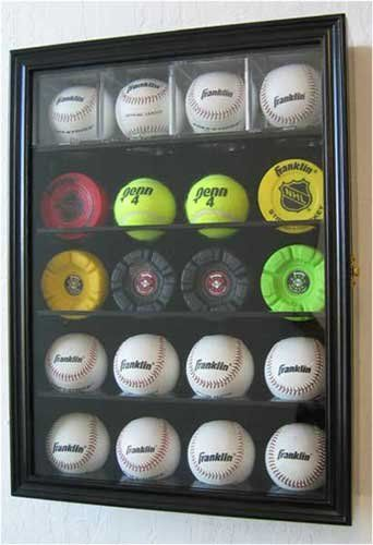 20 Baseball Holder Display Case w/ UV Protection Lockable door, BLACK Finish (B20-BL) at http://suliaszone.com/20-baseball-holder-display-case-w-uv-protection-lockable-door-black-finish-b20-bl/