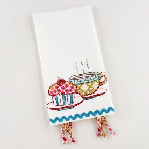 Tea Towel Kitchen Curtains: 114 Best Kitchen Towels Images On Pinterest