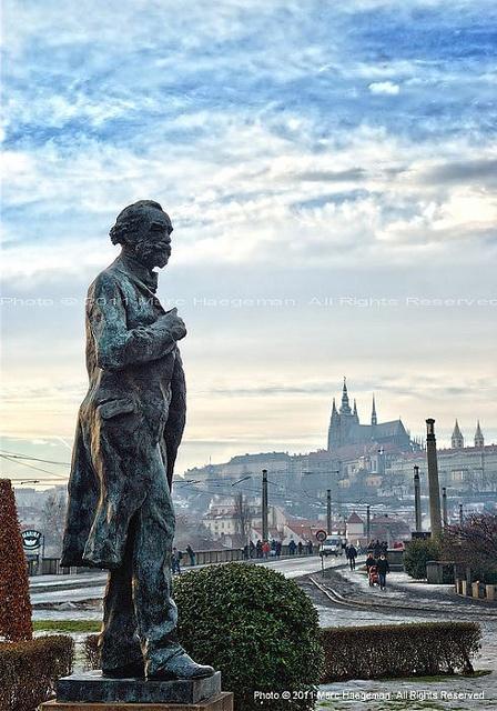 Statue of the famous Czech composer -  Antonin Dvorak.....  in Prague
