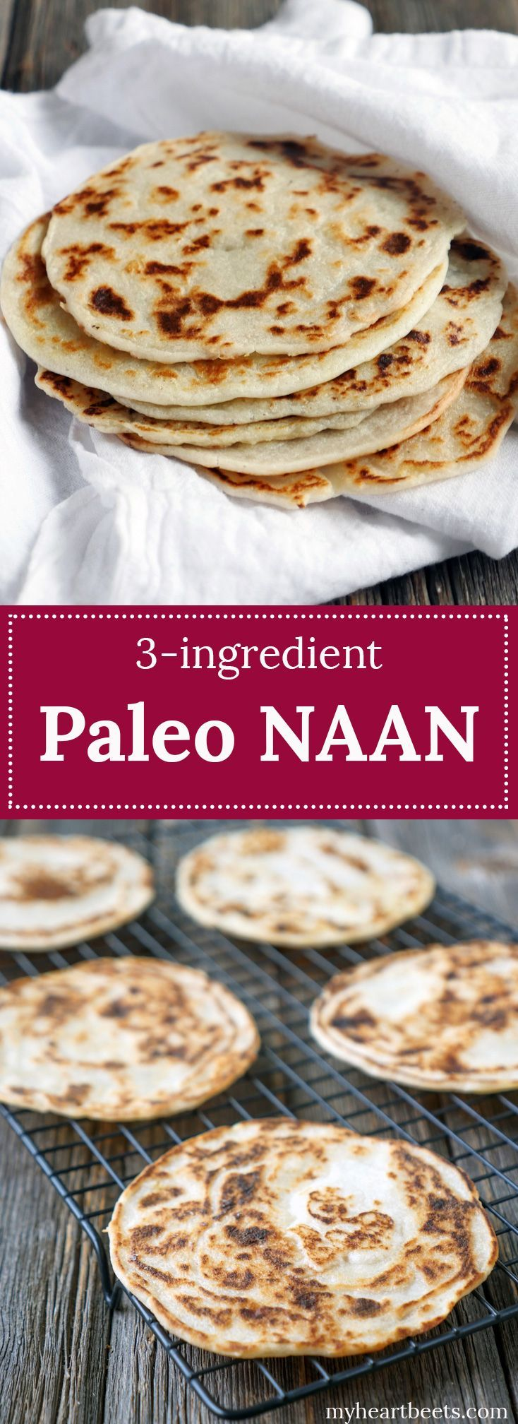 Paleo naan recipe...only uses a few ingredients!! Easy to have these ingredients…