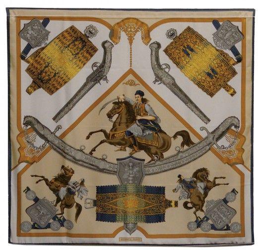 1821 (1971) Το μαντήλι 1821 είναι αφιερωμένο στη Γάλλο-Ελληνική συμμαχία και παρουσιάζει εικόνες από το κίνημα του Αγώνα για την Ελληνική Ανεξαρτησία. Είναι μια σύνθεση από Ιστορικά Κειμήλια του Μουσείου Μπενάκη, παλάσκες, σπάθες και πιστόλια. Απεικονίζονται, επίσης, τρεις πολεμιστές πάνω σε μαύρα άλογα. Οι παλάσκες των δύο χωρών βρίσκονται σε κάθε γωνιά του μαντηλιού, καθώς και μια χρυσή σέλα που είναι ζωγραφισμένη τρεις φορές.