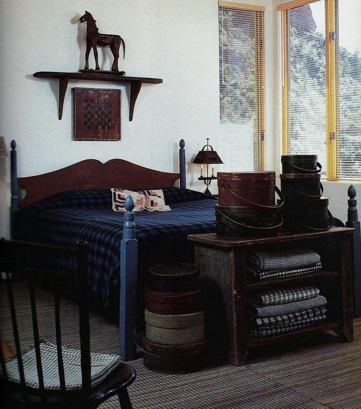 primitive furniture in a modern room