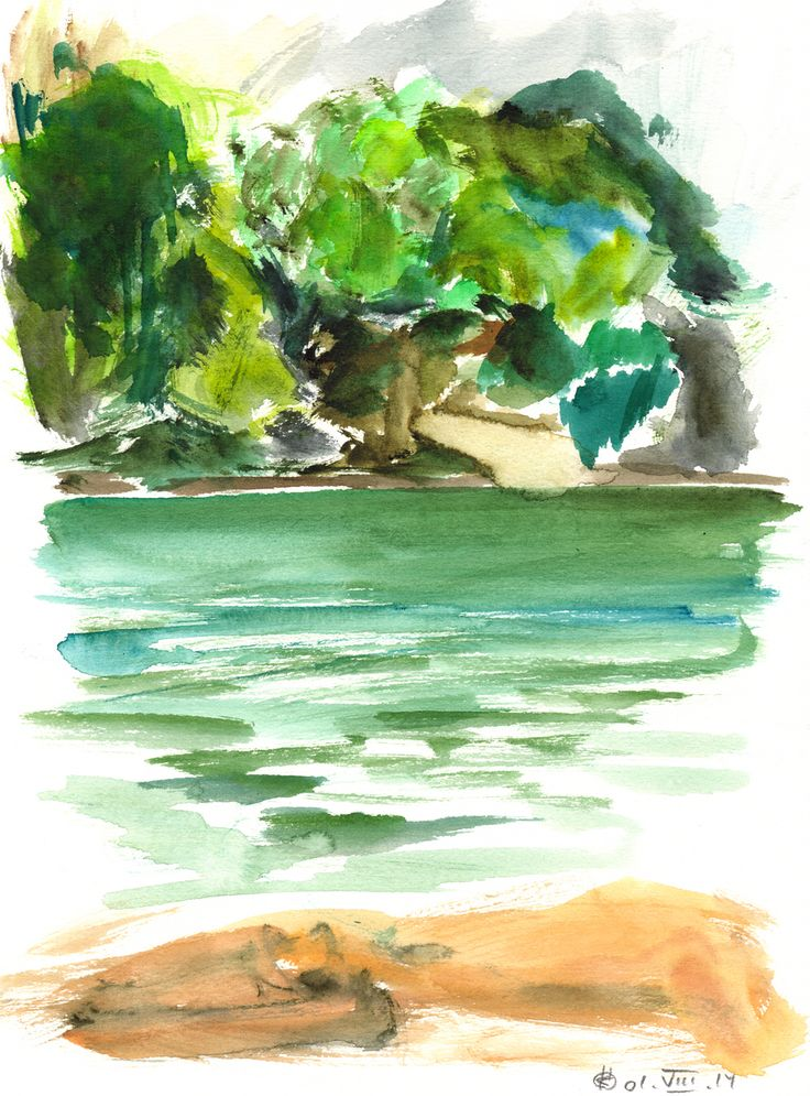 Plötzensee #1 (Berlin) Watercolour on paper | 31x23 cm | 2014 | OCH-A-14-