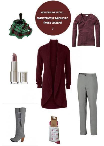 {How to} Wintervest van MissGreen samen met longsleeve van Ecotton, hennepbroek van Global Woman, #vegan laarzen van Cri de Coeur en Lippenstift van Logona #natuurcosmetica