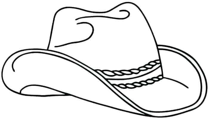 Cowboy Coloring Pages In 2020 Cowboy Hat Drawing Coloring Pages