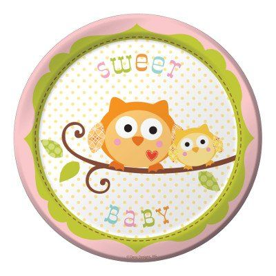 Too cute owl baby shower plates!  Visit The Party Place at 1200 Waldron Road Suite 126 in Fort Smith, Arkansas right next to FFO and in Rogers, Arkansas at ADDRESS and ADDRESS. Find us on Facebook at www.facebook.com/partyplacefortsmith on Twitter @partyplace_fs Instagram @yourpartyplace and Pinterest at http://www.pinterest.com/thepartyplace/