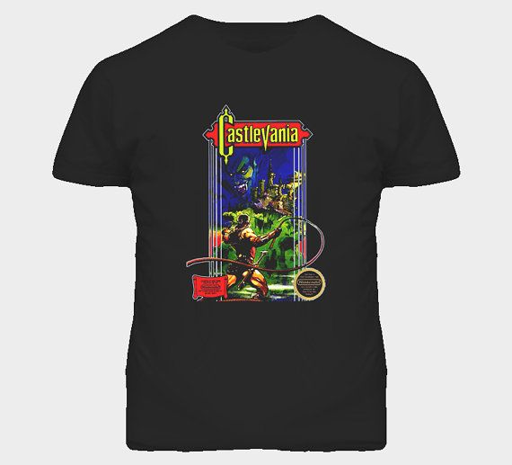 Castlevania Nes Retro Video Game T Shirt by FunnyTshop on Etsy