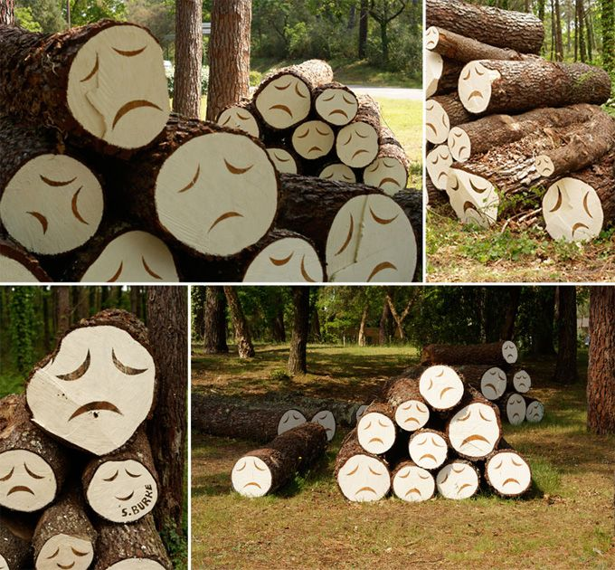Aw! I feel it too!: Art Illustrations, Trees Art, The Real, Mothers Earth, The Faces, Street Art, Art Installations, Sad Trees, Design