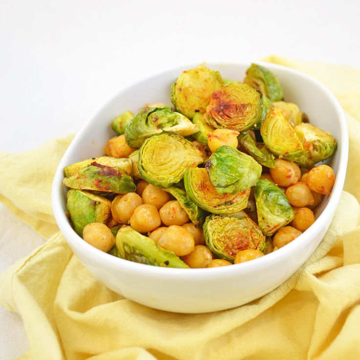 Roasted Brussels Sprouts and Chickpeas from More Quick-Fix Vegan