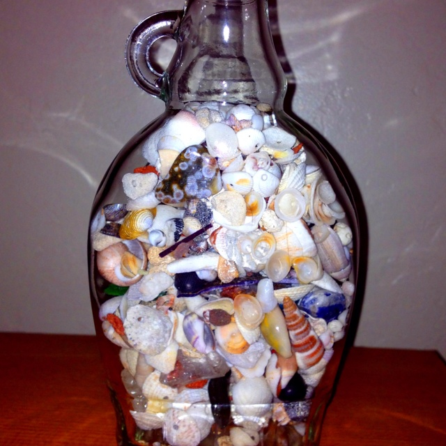 Use your empty maple syrup bottle as a decoration, add shells, dried flowers or use it as vase!! Repurposing glass bottles as decor is cheap and easy!: Repurpo Ideas, Crafts Ideas, Repurposed Ideas, Empty Bottle, Ideas Projects