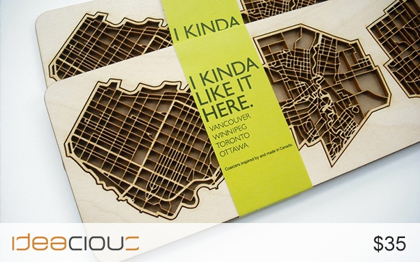 """4 Cities Coasters by The National Design Collective 