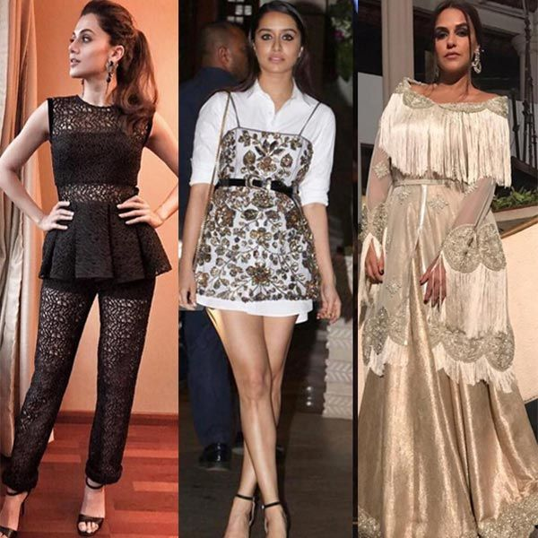 Taapsee Pannu, Shraddha Kapoor, Neha Dhupia's attire will make you want to throw Harry Potter's invisibility cloak on them #FansnStars