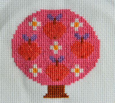 alice apple cross stitch