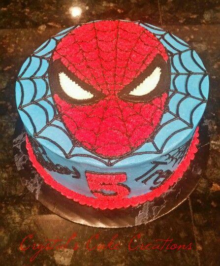 Buttercream spiderman cake