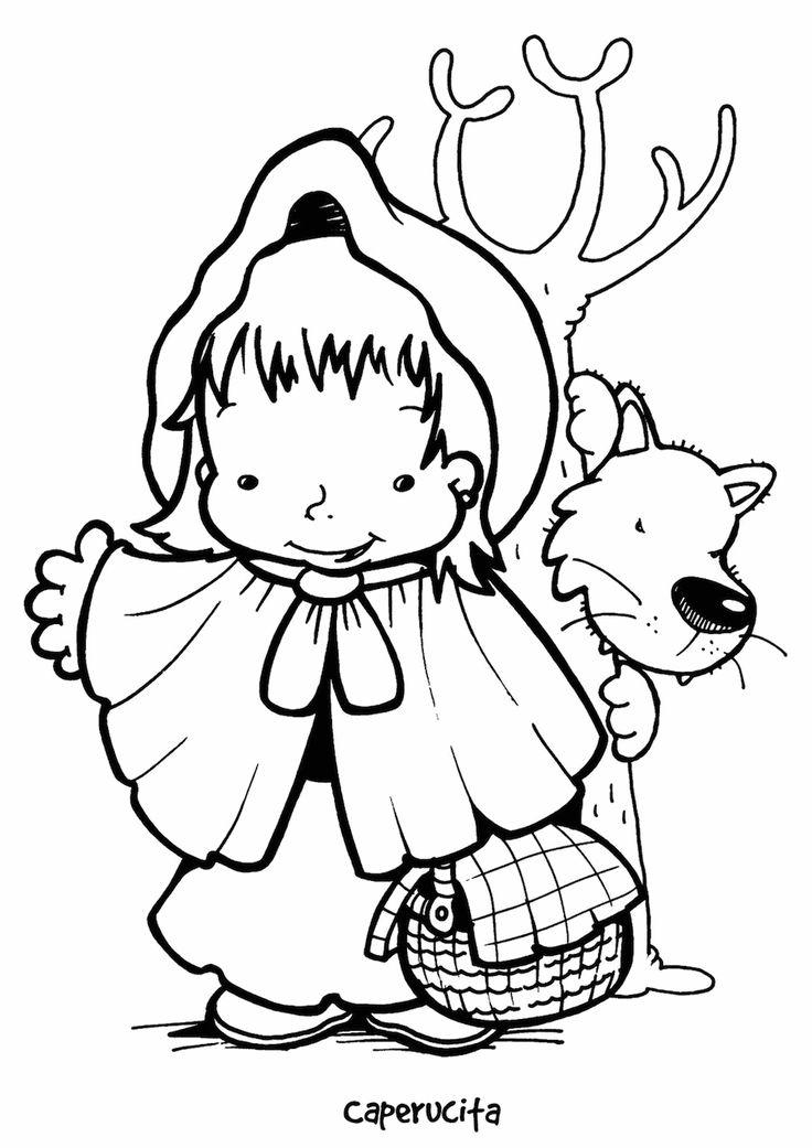 Desenhos para Colorir da Chapeuzinho Vermelho: Lobo Mau