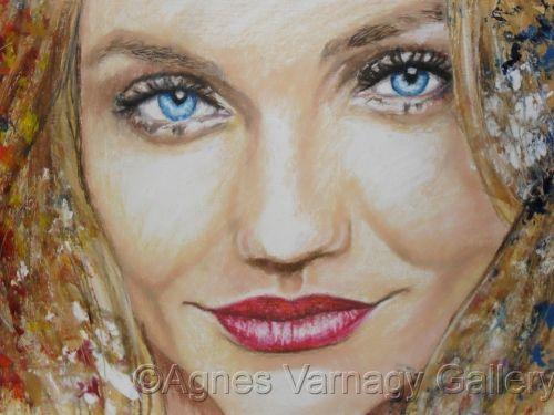 Portrait of Cameron Diaz by Agnes Varnagy Gallery
