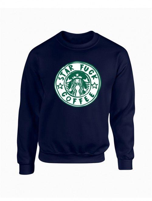 Sudadera STAR FUCK COFFEE.  Encuentra las últimas tendencias en sudaderas y moda joven para hombre en nuestra tienda de ropa online.     http://latiendajoven.com/145-sudaderas-hombre #sudadera #hombre #logo #sudaderapersonalizada #sudaderasdehombre #ropa #joven #tiendaderopa