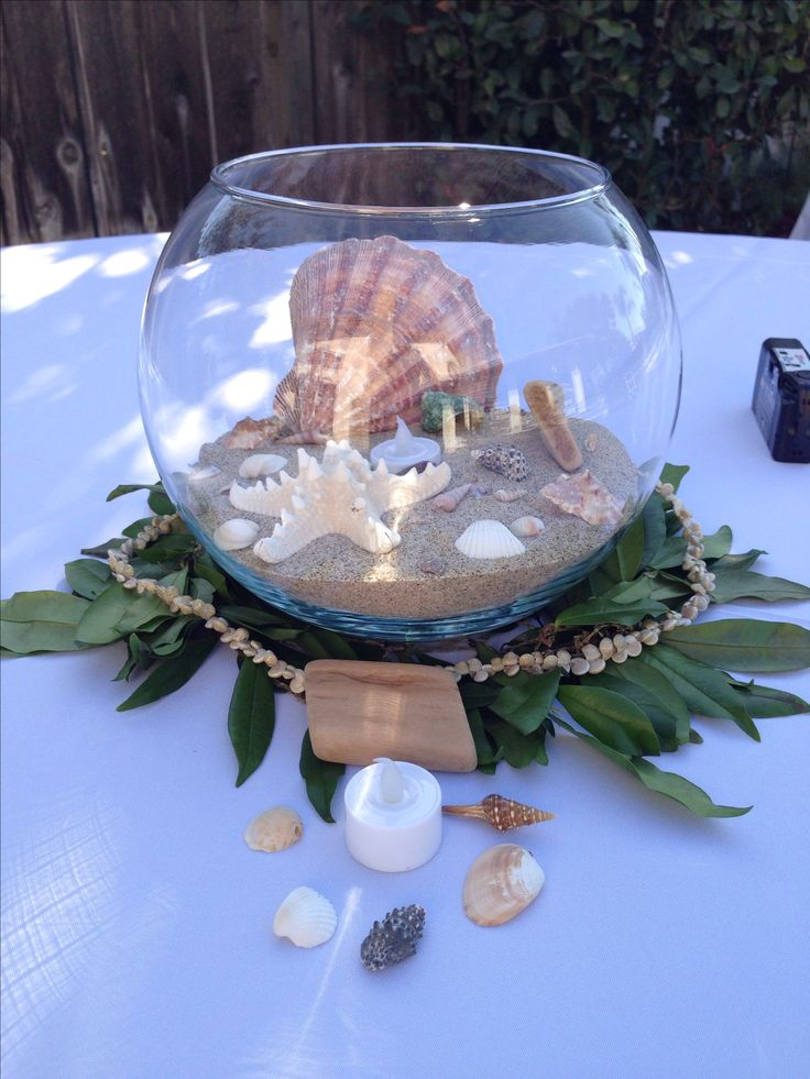 Beach Wedding Hawaiian Theme Centerpieces Seashells