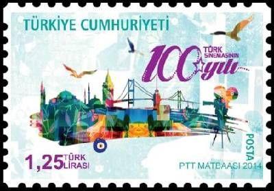 Stamps of Turkey: Turkish Cinema (2014)Courtesy Philatelic Database.