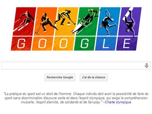 Jeux olympiques : Google critique la politique homophobe russe en un Doodle