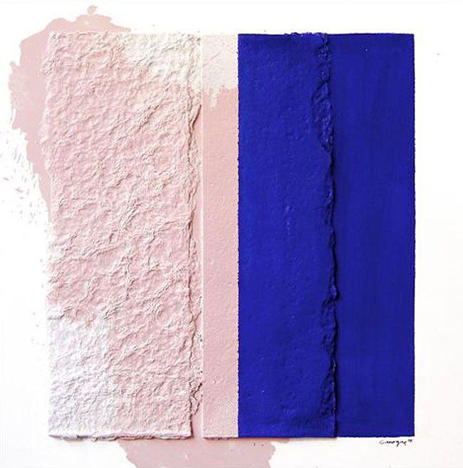 Rafael Canogar - Untitled. Palette inspiration | http://www.1stdibs.com/art/mixed-media/rafael-canogar-untitled/id-a_32831/