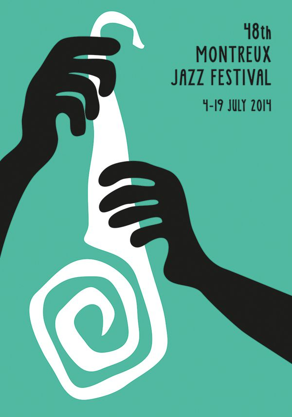 From a student in a Finn Nygaard workshop, Montreux Jazz Festival Poster 2014
