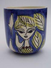 Vintage Small Vase/Pot by Inger Waage for Stavangerflint Norway 1950s 1960s