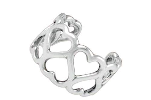 Sterling Silver 925 Heart Ear Cuff