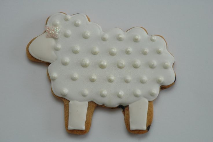 polka dot sheep and sheep wool chilling on a chocolate chip spread cookie :)