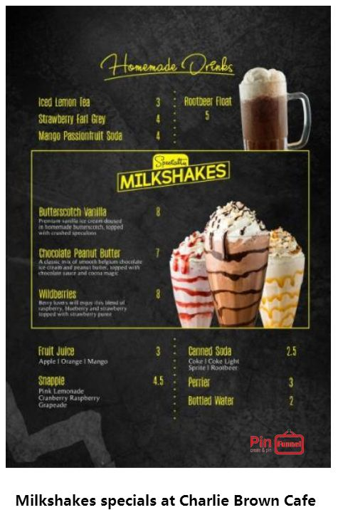 Best milkshakes specials deal 2018 at Charlie Brown Cafe, Orchard Road, Singapore, the best comics themed cafe at Cathay Cineleisure Orchard. It is   Singapore MUIS Halal certified restaurant and c