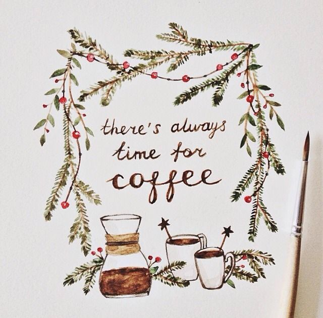 I love when there's time to really sit and enjoy it. Coffee, coffee, coffee!