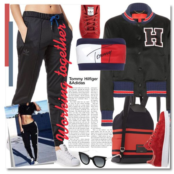 How To Wear Tommy Hilfiger & Adidas Outfit Idea 2017 - Fashion Trends Ready To Wear For Plus Size, Curvy Women Over 20, 30, 40, 50