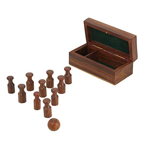 Miniature Wooden Bowling Set; Handmade birthday Gift; Board Game for Adults ShalinIndia http://www.amazon.in/dp/B00PNBB7L2/ref=cm_sw_r_pi_dp_RW.Avb0XZ162V