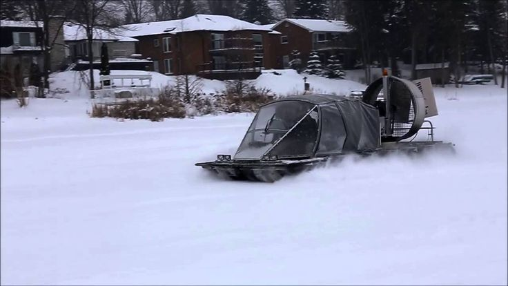 New #Canadian amphibious craft #ATASD flying on ice covered lake