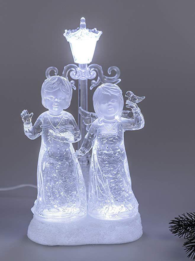 Weihnachtsdeko Aus Acryl.Formano Engel Paar Mit Laterne Dekofigur Weihnachtsdeko Mit Licht