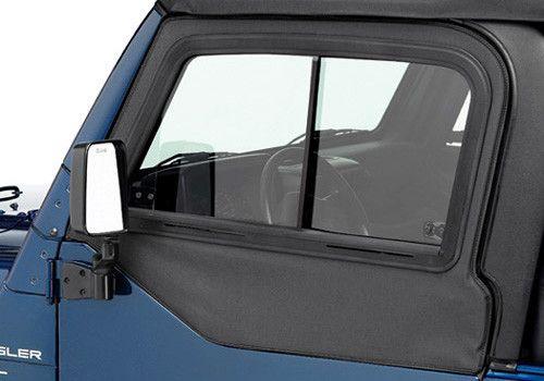 1997-2006 Jeep Wrangler Bestop® Soft Top Upper Door Sliders (color options)