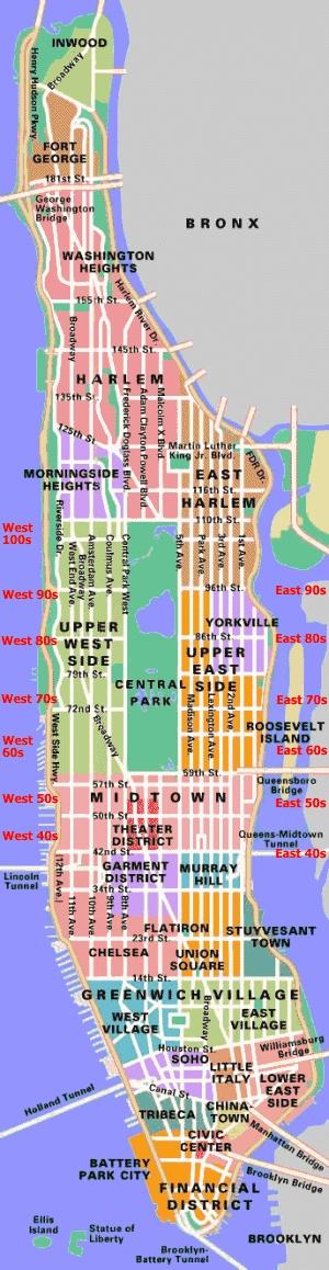 manhattan new york city map