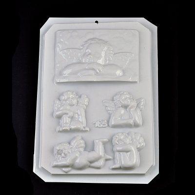 Plastová forma, 18x28 cm, malý anjeli