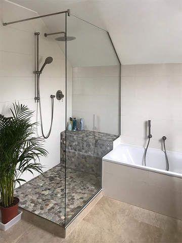 Glaserei Salzinger München Dusche unter der Dachschräge