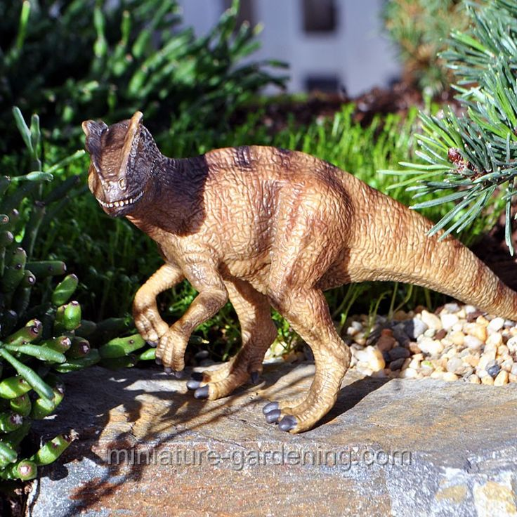 garden animals. Dinosaur, Allosaurus #miniature #fairy #garden #dinosaur Garden Animals