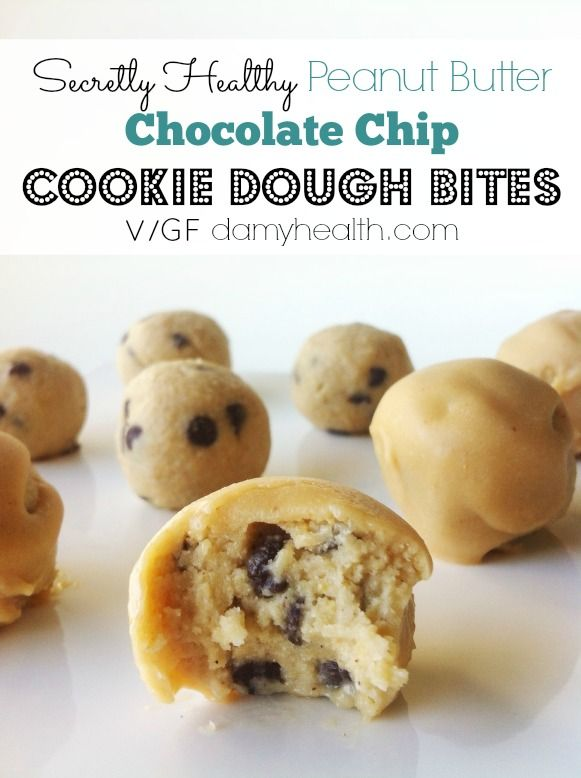 Secretly Healthy Peanut Butter Chocolate Chip Cookie Dough ...