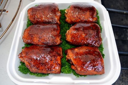 ... grills forward team traeger competition style bbq chicken thighs 1