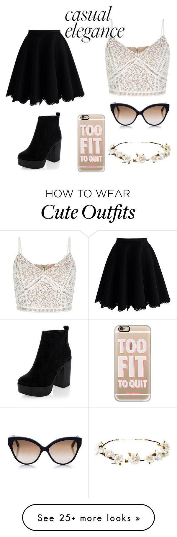 """Cute outfit "" by lisaleemason on Polyvore featuring Chicwish, Cutler and Gross, Casetify and Cult Gaia"