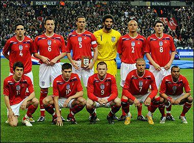 english national football