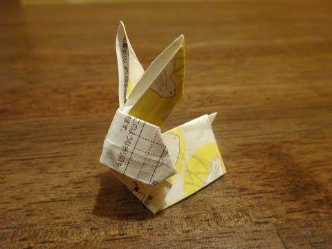 箸置き折り方|箸袋で折り紙~ウサギ編~Origami Rabbit - YouTube